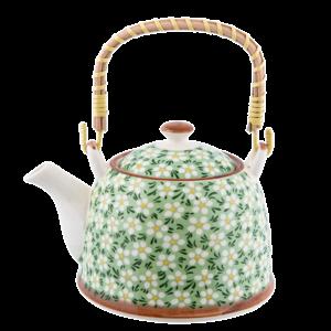 Clayre & Eef Teapot Daisies green
