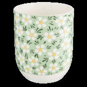 Clayre & Eef Mug Daisies green