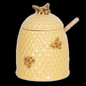 Clayre & Eef Honigtopf mit Löffel Bees