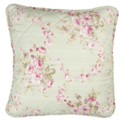 Clayre & Eef Cushion cover Petite Roses lichen green