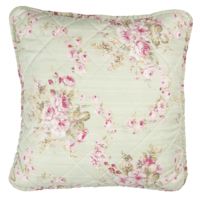 Clayre & Eef Kissenhülle Petite Roses lichen green