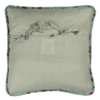 Clayre & Eef Cushion cover Flowers duck egg