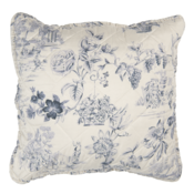 Clayre & Eef Kissenhülle Toile cream/blue