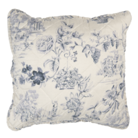 Clayre & Eef Kissenhülle Toile cream/blue