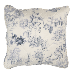 Clayre & Eef Cushion cover Toile cream/blue