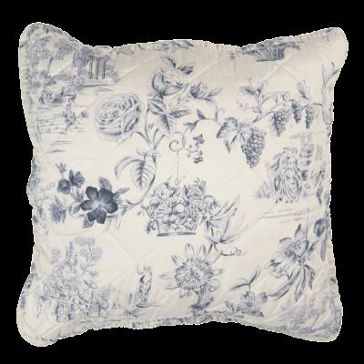 Clayre & Eef Cushion cover Toile cream/blue