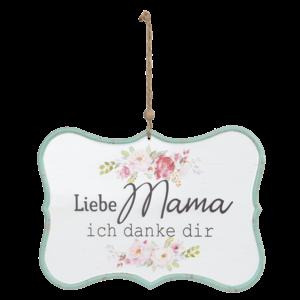 Clayre & Eef Textschild Liebe Mama