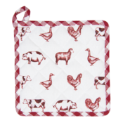 Clayre & Eef Potholder Country Life Animals