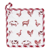 Clayre & Eef Topflappen Country Life Animals