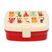 Rex London Lunchbox mit Fach Colourful Creatures