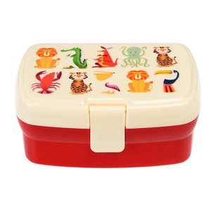Rex London Lunchbox mit Fach Colourful Creatures