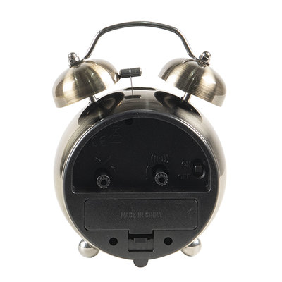 Clayre & Eef Alarm Clock Classic silver