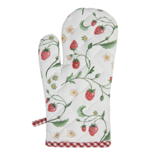 Clayre & Eef Oven mitt Wild Strawberry