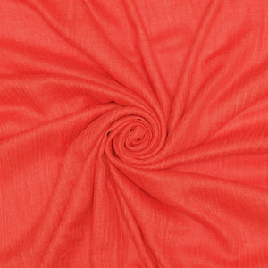 Pure & Cozy Schal Cotton/Wool orangy red
