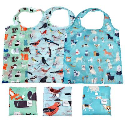 Rex London Shoppers recycled Nine Lives/Best in Show/Garden Birds