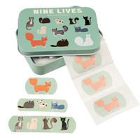 Rex London Plasters in tin Nine Lives