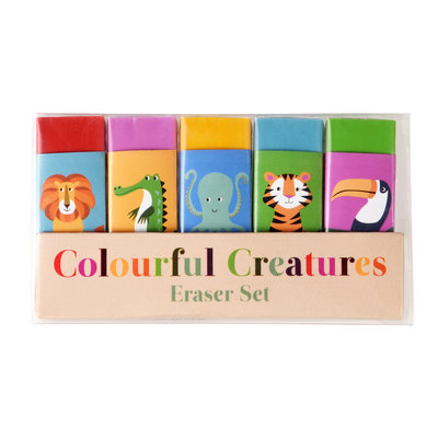 Rex London Erasers Colourful Creatures Set of 5