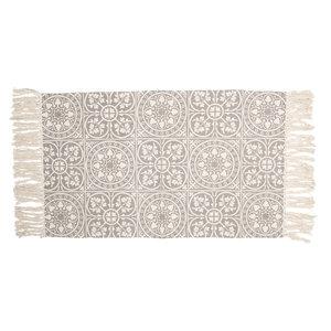 Clayre & Eef Rug Tiles grey