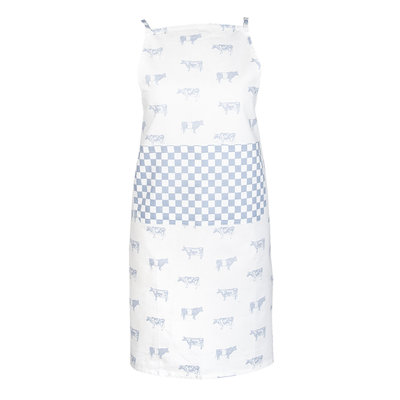 Clayre & Eef Kitchen apron Cows blue