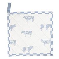 Clayre & Eef Potholder Cows blue