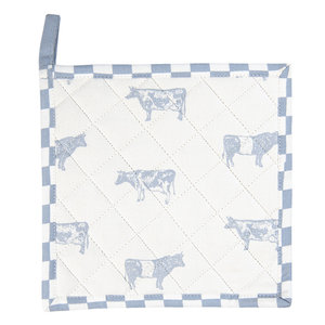 Clayre & Eef Topflappen Cows blue
