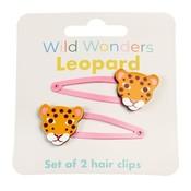 Rex London Haarspangen Leopard