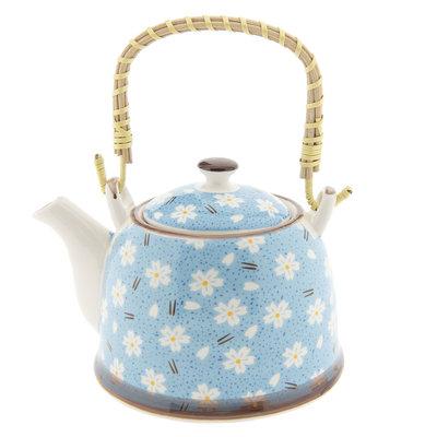 Clayre & Eef Teapot Daisies blue