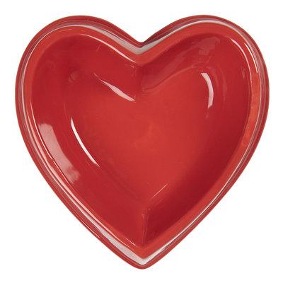Clayre & Eef Animal Food Bowl Heart