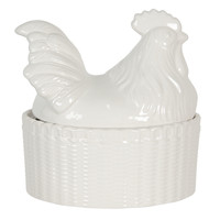 Clayre & Eef Bowl with lid Cock