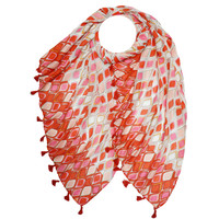 M&K Collection Scarf Tassel  Istanbul red