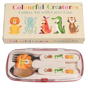Rex London Cutlery set Colourful Creatures