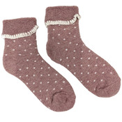 Joya Socken Wollmix extra thick Dotty pink/cream