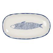 Clayre & Eef Schale oval Fish blue