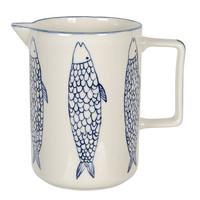 Clayre & Eef Kanne Fish blue