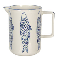 Clayre & Eef Pitcher Fish blue