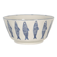 Clayre & Eef Bowl round Fish blue