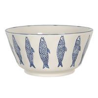 Clayre & Eef Schale round Fish blue