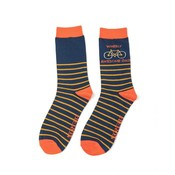 Miss Sparrow Mens Socks Bamboo Wheely Awesome Dad navy