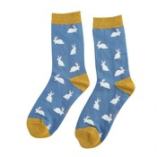 Miss Sparrow Socken Bamboo Rabbits blue