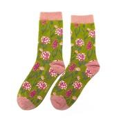 Miss Sparrow Socks Bamboo Botany olive
