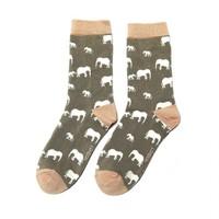 Miss Sparrow Socks Bamboo Elephant grey