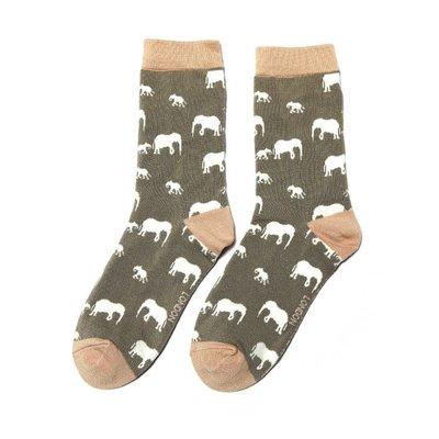 Miss Sparrow Socken Bamboo Elephant grey