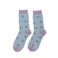 Miss Sparrow Socks Bamboo Bumble Bee Scattered denim
