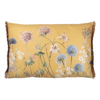 Clayre & Eef Cushion 60 x 40 Garden Flowers yellow