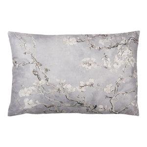 Clayre & Eef Cushion 60 x 40 Cherry Flowers grey