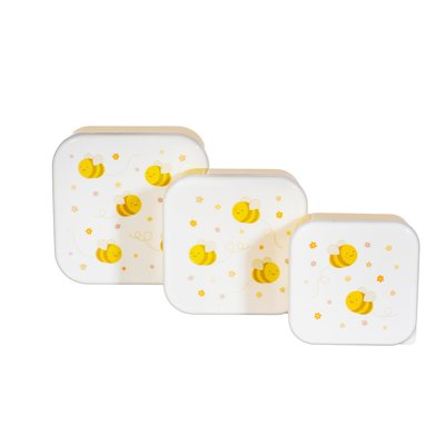 Sass & Belle Snack Box Bee Happy Set of 3