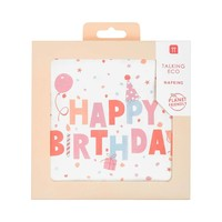 Talking Tables Paper Napkins Rose Eco Happy Birthday