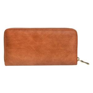 Clayre & Eef Wallet Leatherlook brown