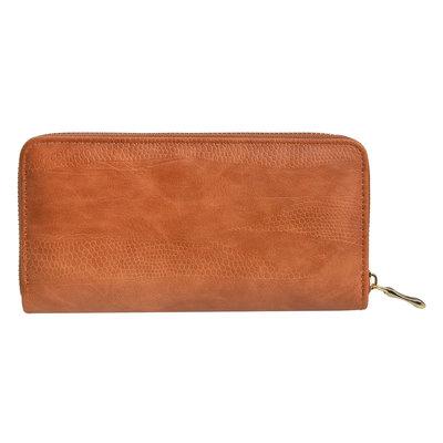 Clayre & Eef Geldbörse Leatherlook brown