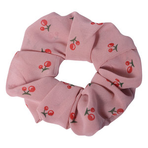 Clayre & Eef Scrunchie Cherries pink